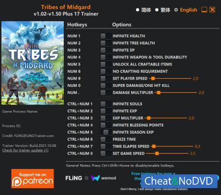 Tribes of Midgard трейнер Trainer +19 v1.50 {FLiNG}
